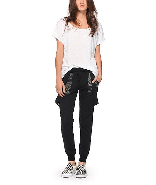 Simple Vince Silk Jogger Pants In Black  Lyst