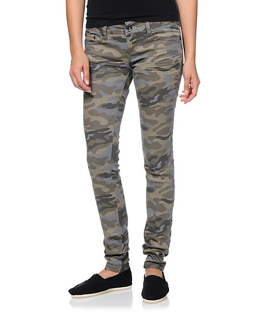 Almost Famous Camo Print Skinny Jeans