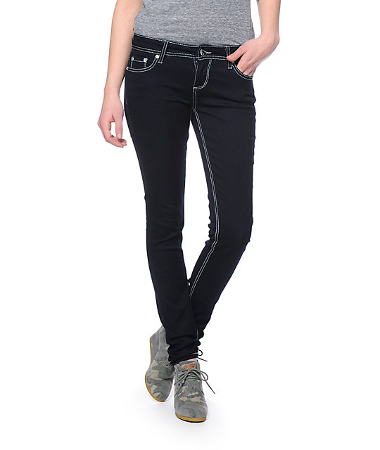 Almost Famous Dark Blue Skinny Jeggings