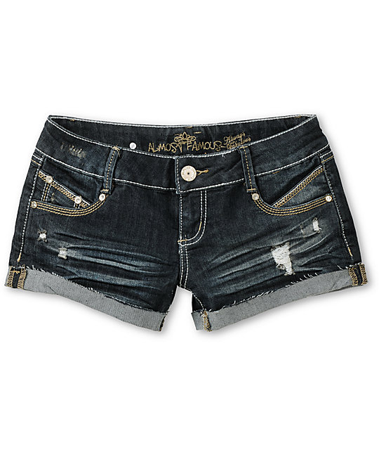 Almost Famous Haley Medium Blue Denim Shorts