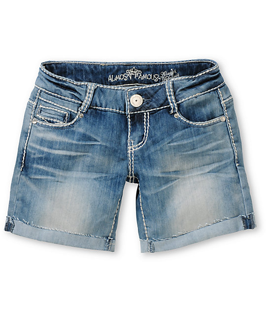 Almost Famous Harley Medium Blue Denim Bermuda Shorts