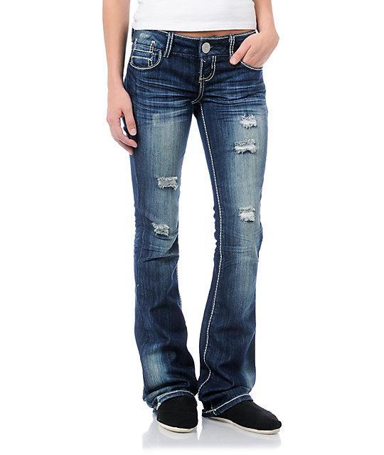 Almost Famous Harper Medium Blue Bootcut Jeans