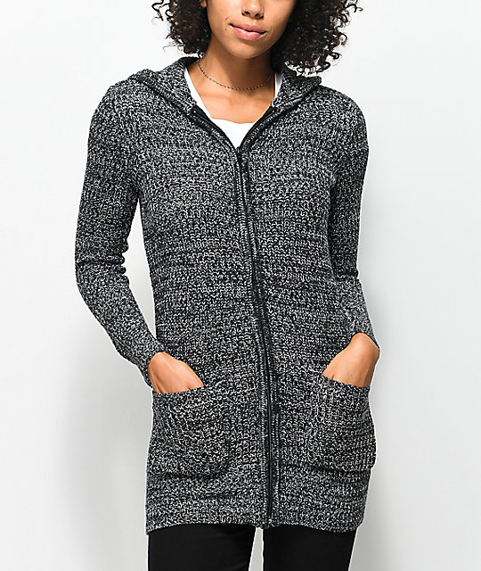 Almost Famous Issy Full Zip Hooded Cardigan