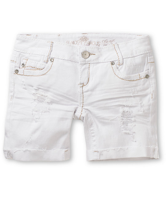 Almost Famous Jane White Denim Bermuda Shorts
