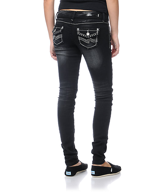Almost Famous Janelle Black Skinny Jeans
