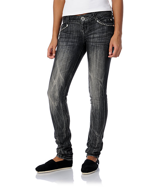 Almost Famous Janelle Grey Skinny Jeans