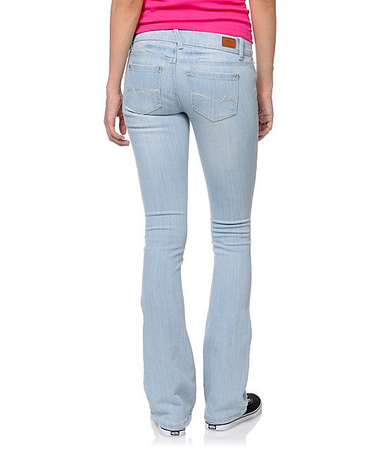 Almost Famous Jen Light Blue Wash Bootcut Skinny Jeans