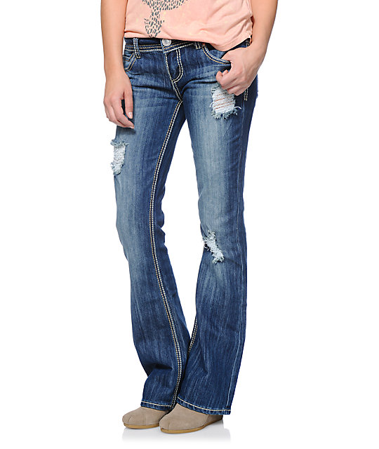 Almost Famous Karlyn Dark Blue Bootcut Jeans