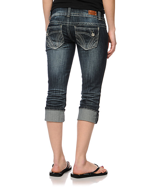 Almost Famous Kassidy Cuffed Cropped Jeans