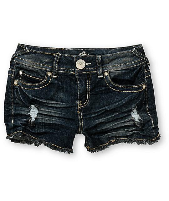 Almost Famous Lizette Indigo Cut Off Shorts