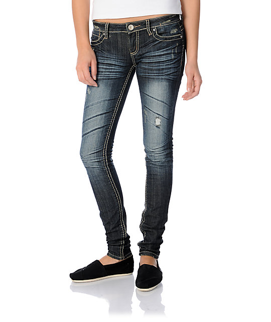 Almost Famous Madison Blue Skinny Jeans