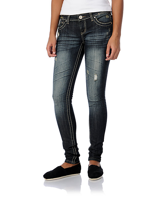 Almost Famous Maia Blue Skinny Jeans