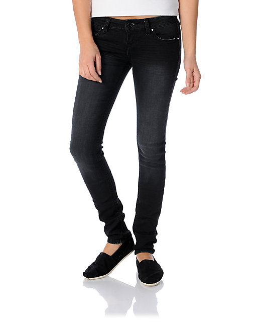 Almost Famous Mandy Black Skinny Jeans