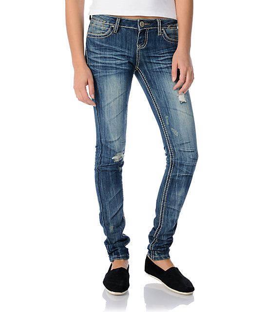 Almost Famous Mary Blue Skinny Jeans