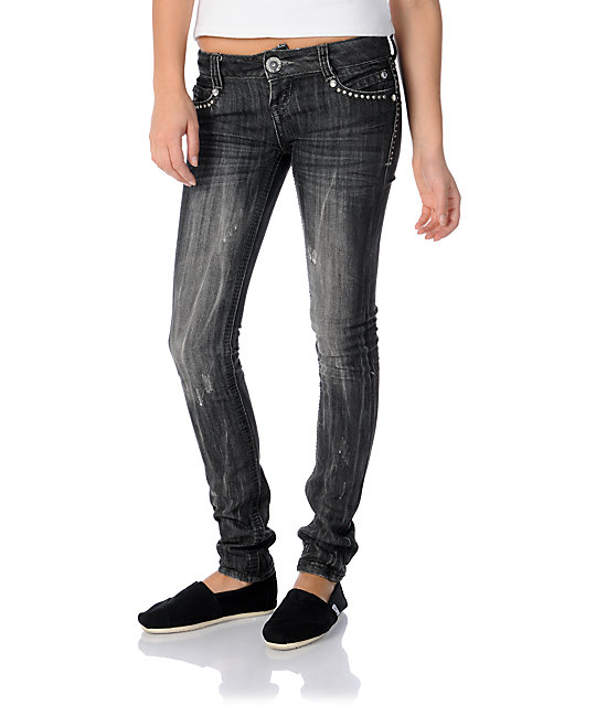 Almost Famous Molly Grey Skinny Jeans
