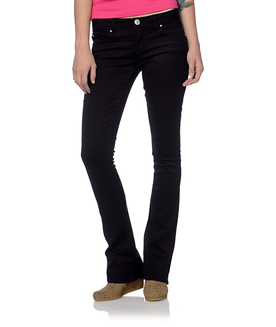 Almost Famous Paula Black Bootcut Jeans at Zumiez : PDP