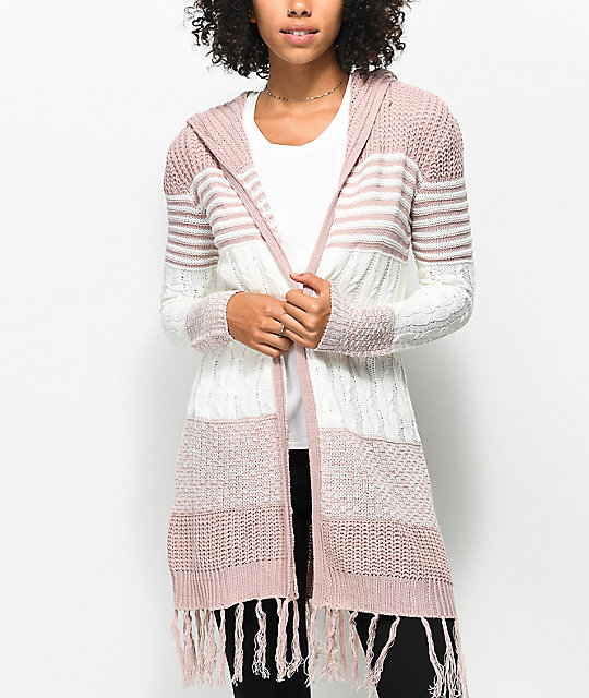 Almost Famous Quinn Striped Hooded Cardigan | Zumiez