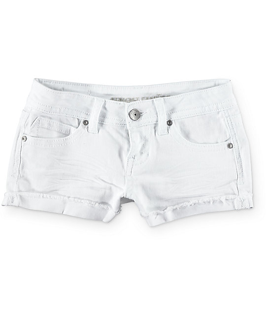 Almost Famous Sarah White Basic Shorts