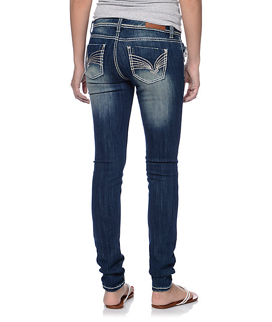 Almost Famous Sophie Dark Wash Skinny Jeans