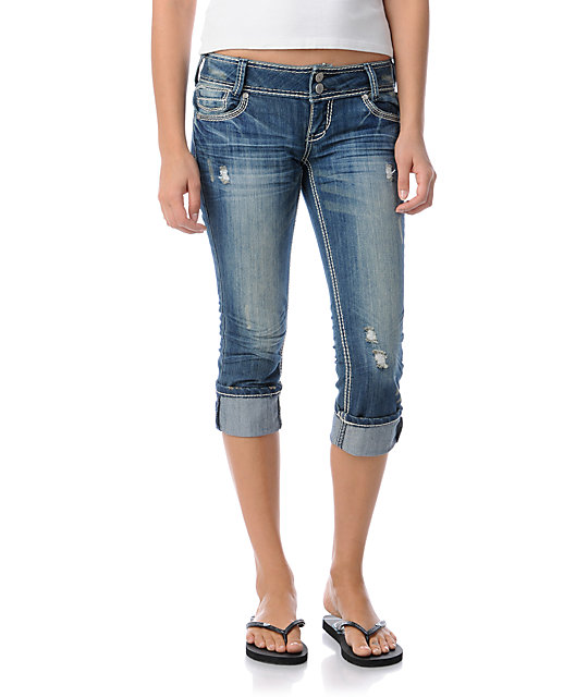 Almost Famous Tori Denim Cropped Jeans