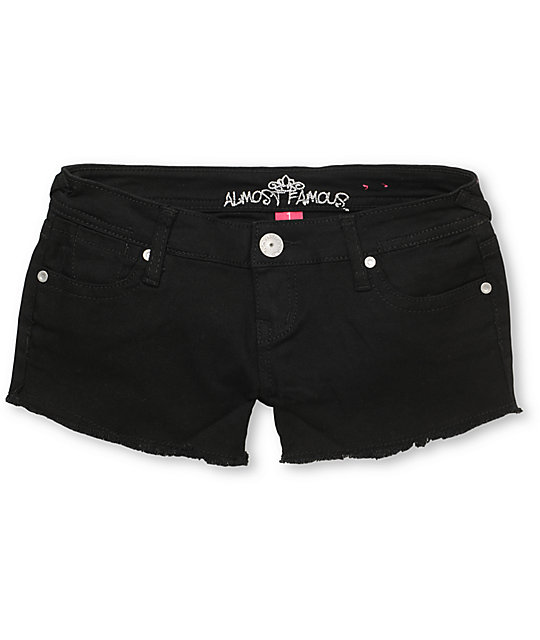 Almost Famous Tracy Black Cut Off Shorts
