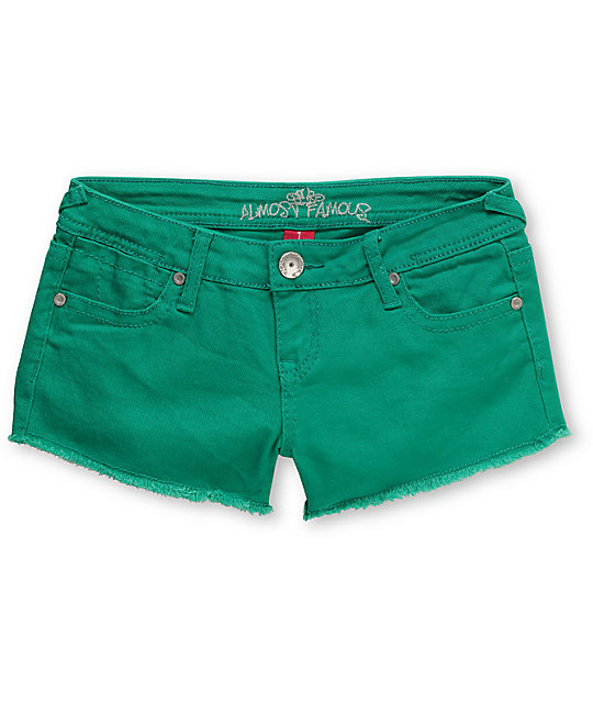 Almost Famous Tracy Green Cut Off Shorts