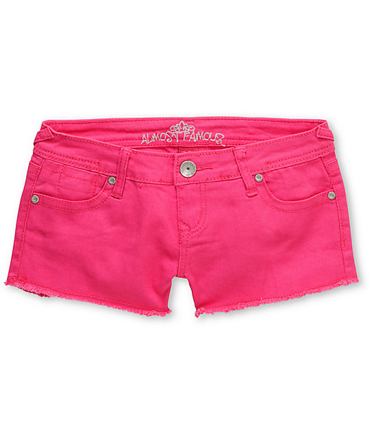Almost Famous Tracy Pink Cut Off Shorts