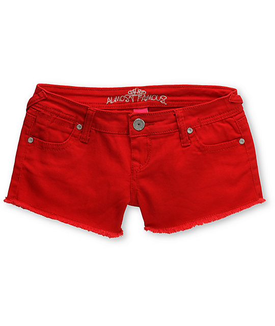 Almost Famous Tracy Red Cut Off Shorts
