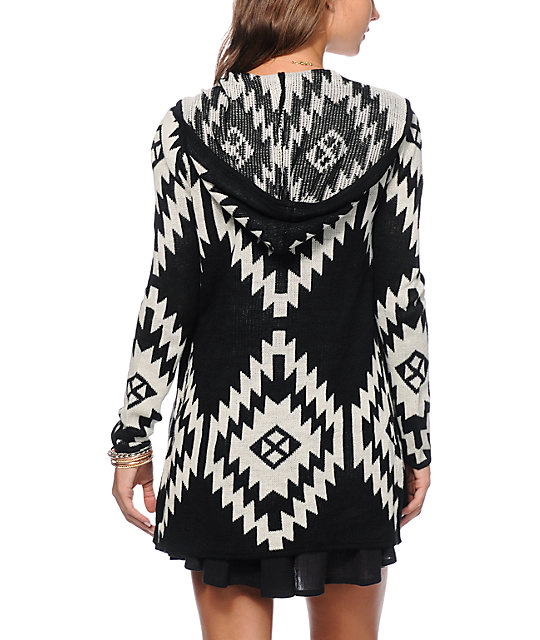 Almost Famous Tribal Hooded Cardigan | Zumiez