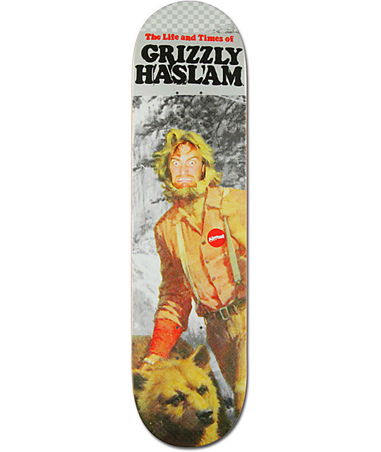"Almost Grizzly Haslam 8.0""  Pro Model Skateboard Deck"