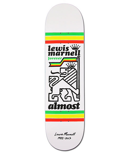 "Almost Lewis Marnell Tribute 8.25""  Skateboard Deck"