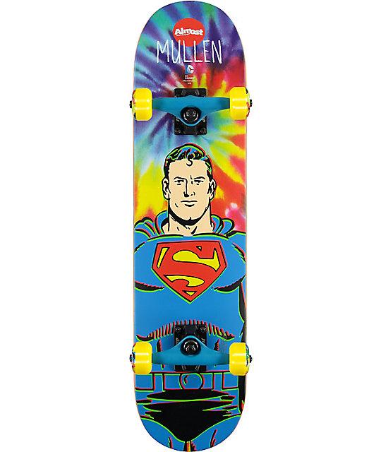 """Almost Mullen Superman Tie Dye 7.375""""  Skateboard Complete"""