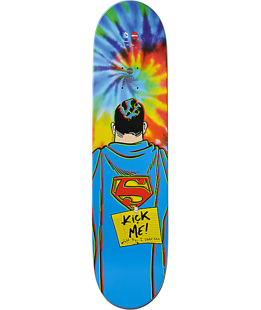 "Almost Mullen Superman Tie Dye 8.0""  Skateboard Deck"