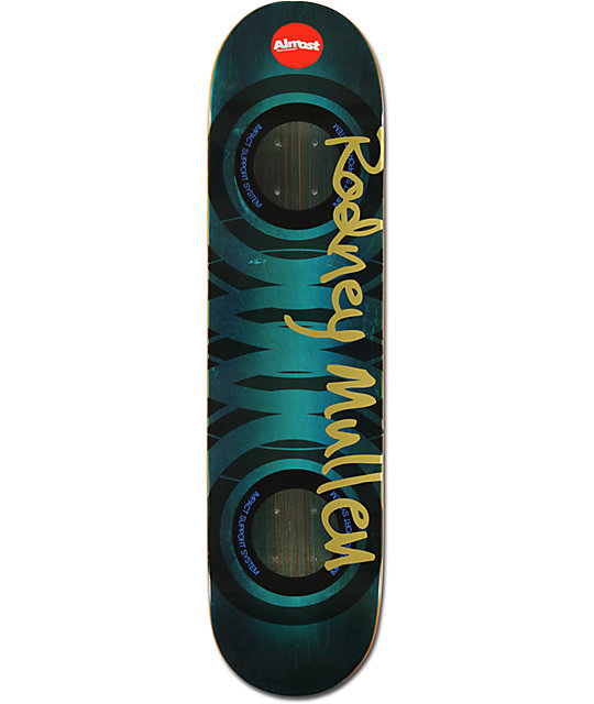 "Almost Rodney Mullen Spray Stain Impact 7.75""  Skateboard Deck"