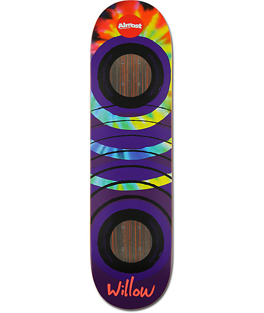 "Almost Willow Tie Dye Impact Support 8.25""  Skateboard Deck"