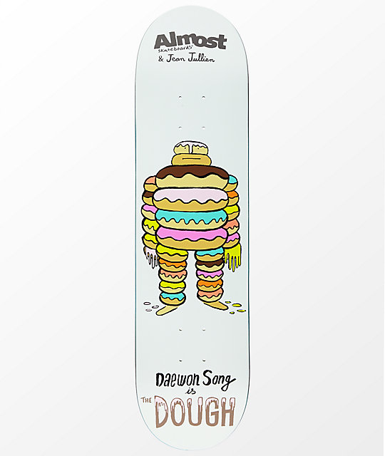 "Almost x Jean Jullien Monsters Daewon 8.0"" Skateboard Deck"