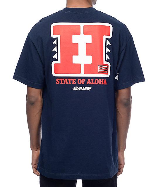 Aloha Army Hi Bred Navy T-Shirt
