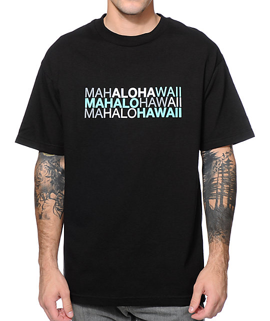 Aloha Army Mahalohawaii Black T-Shirt