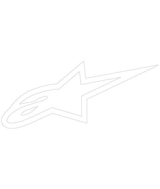 Alpine Star A-Star White Die-Cut Sticker