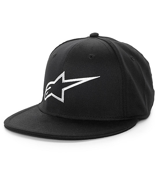 Alpinestars Ageless Flat Black Fitted Hat