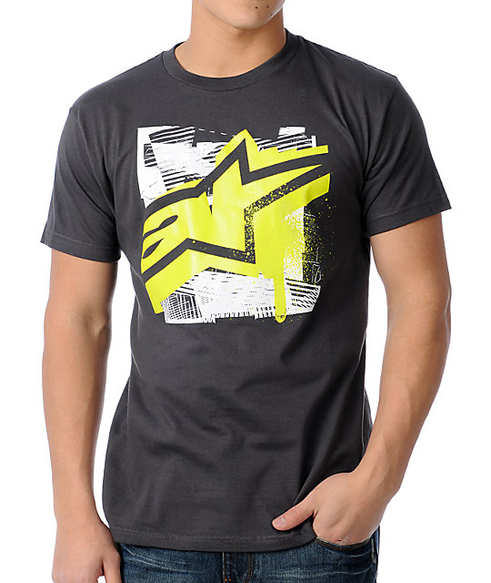 Alpinestars Engineer Charcoal T-Shirt