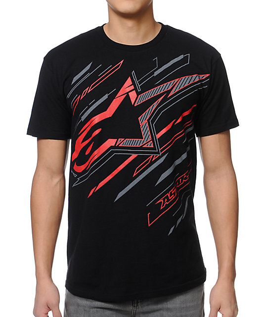 Alpinestars Gazer Black T-Shirt