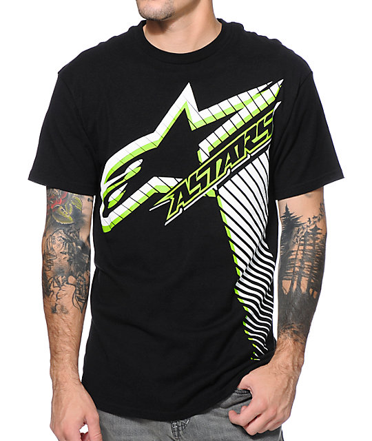 Alpinestars Notion Black & Lime T-Shirt