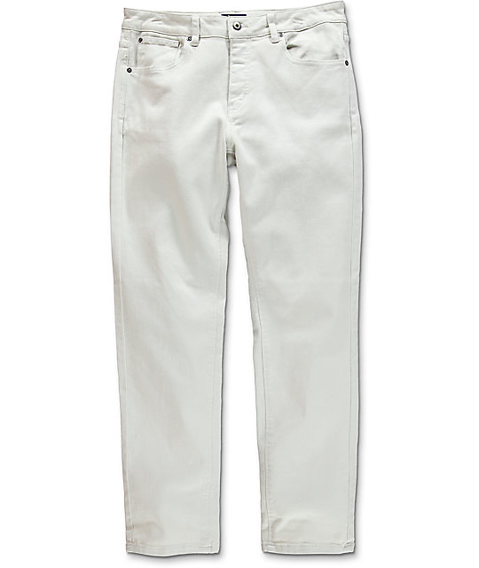 979 Tapered Dirty White Jeans