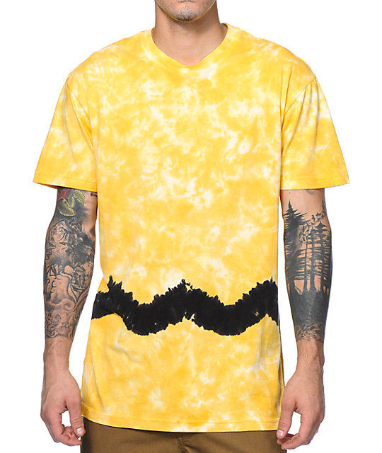 Altamont Brown Acid Yellow Tie Dye T-Shirt