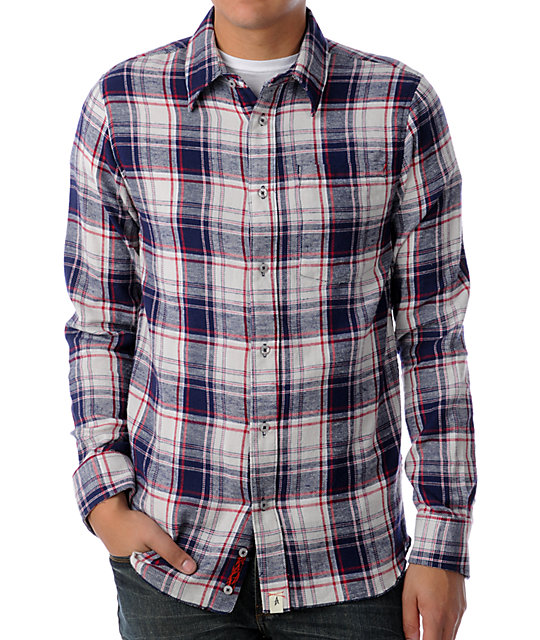 Altamont Burnout Navy Flannel Shirt