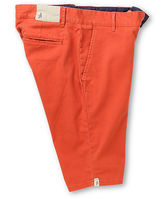 Altamont Davis Red Slim Shorts