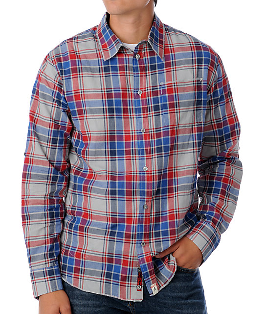 Altamont Foreigner Grey Plaid Woven Shirt
