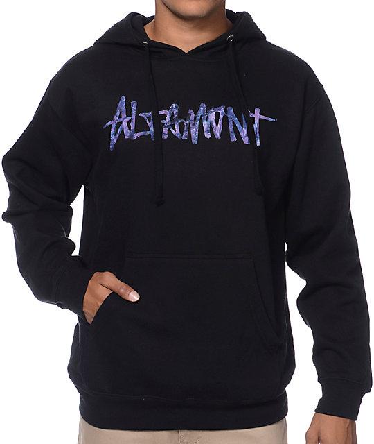 Altamont Fungi Black & Tie Dye Pullover Hoodie