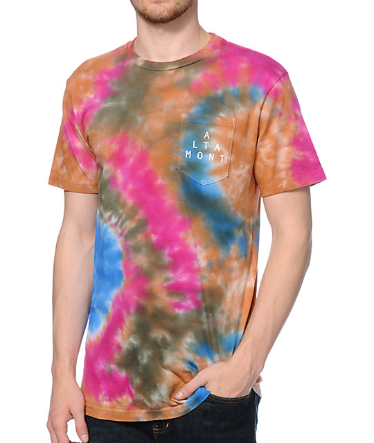 Altamont Lockstep Tie Dye Pocket T-Shirt